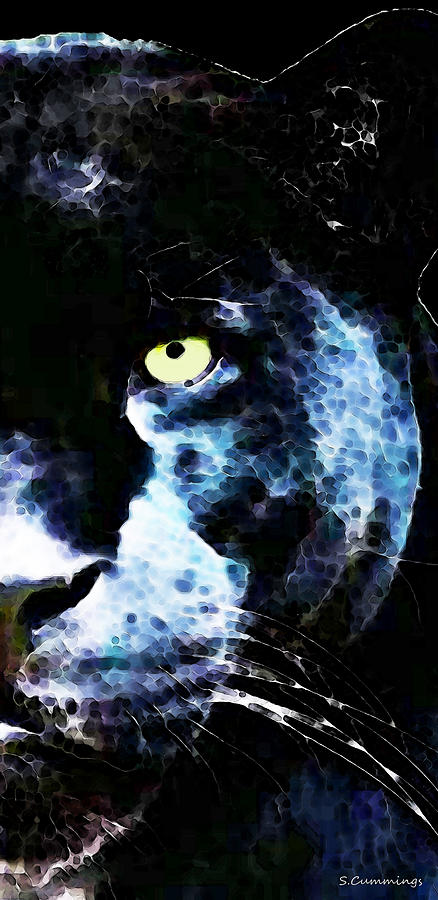 Black Panther Art - After Midnight Painting  - Black Panther Art - After Midnight Fine Art Print