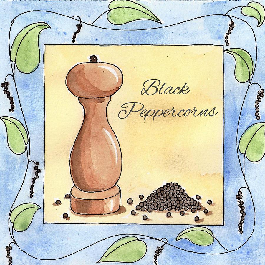 Black Peppercorns Kitchen Art Painting