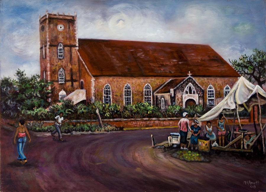 Black River Parish Church Painting