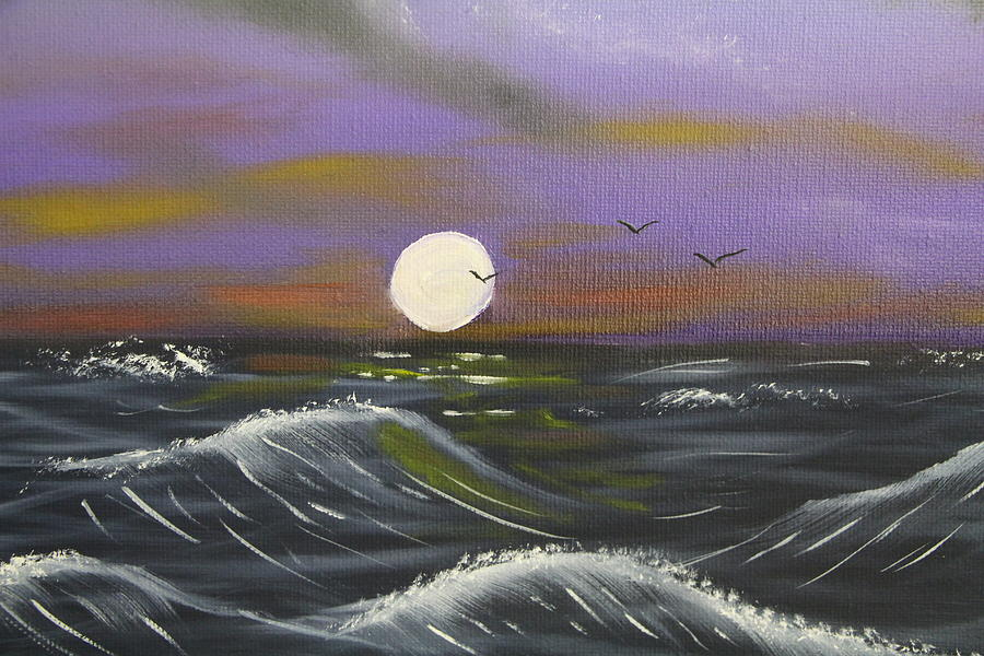 Black Seas Painting  - Black Seas Fine Art Print