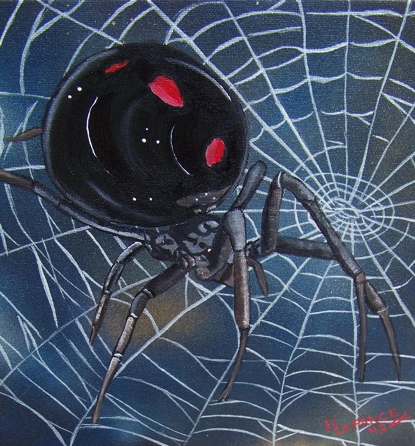 Black Widow Painting  - Black Widow Fine Art Print