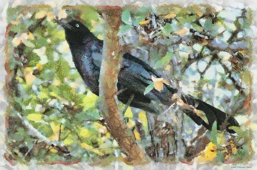 Blackbird Digital Art  - Blackbird Fine Art Print