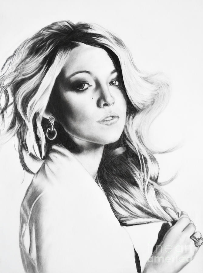 Blake Drawing - Blake Lively by Michael Durocher