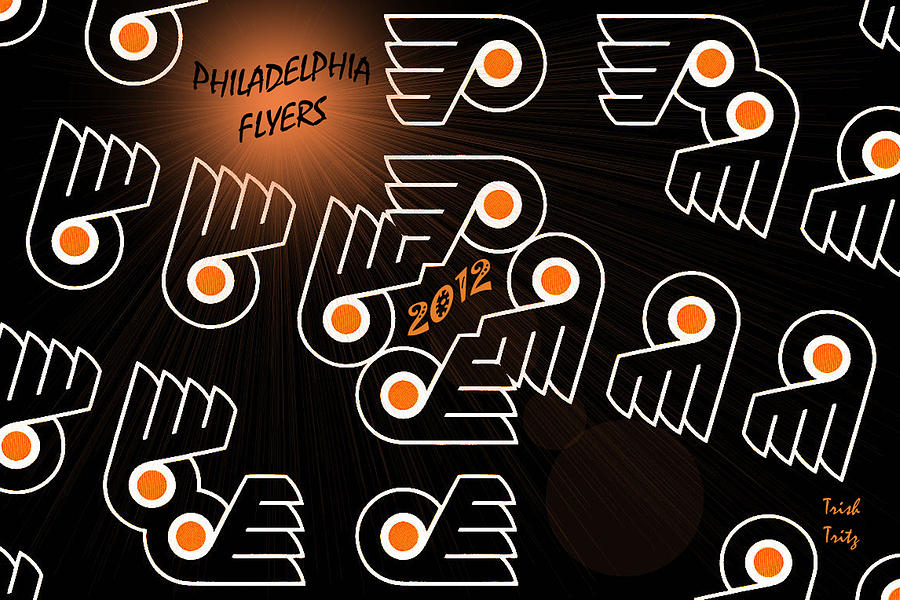 Bleeding Orange And Black - Flyers Photograph  - Bleeding Orange And Black - Flyers Fine Art Print