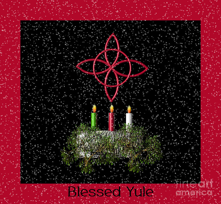 blessed yule photograph by eva thomas