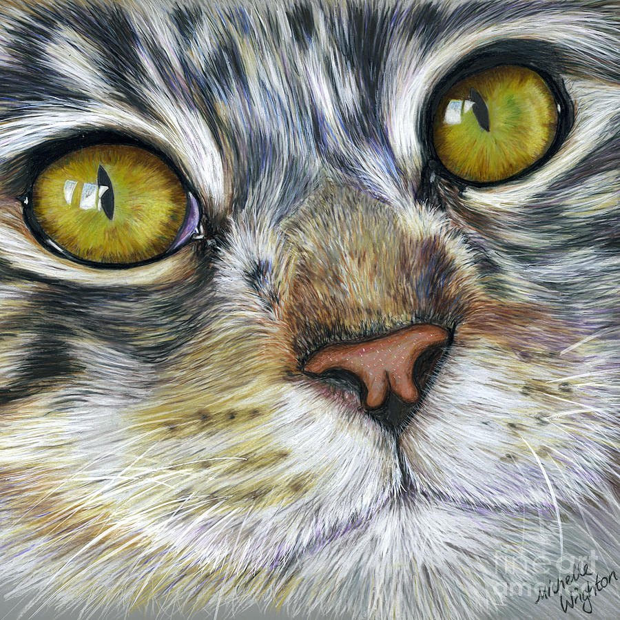 Stunning Cat Painting Painting