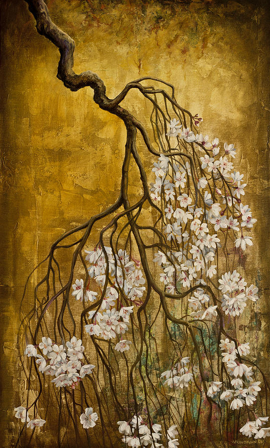 Blooming Sakura Painting  - Blooming Sakura Fine Art Print