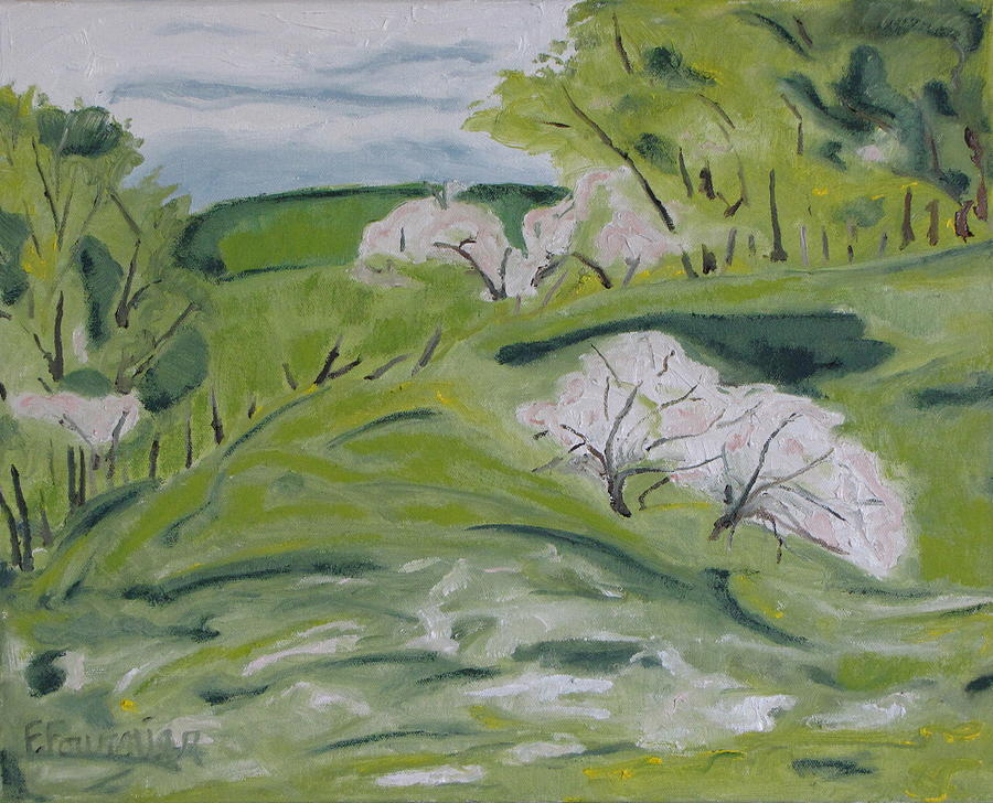 Blossom On The Hill Painting