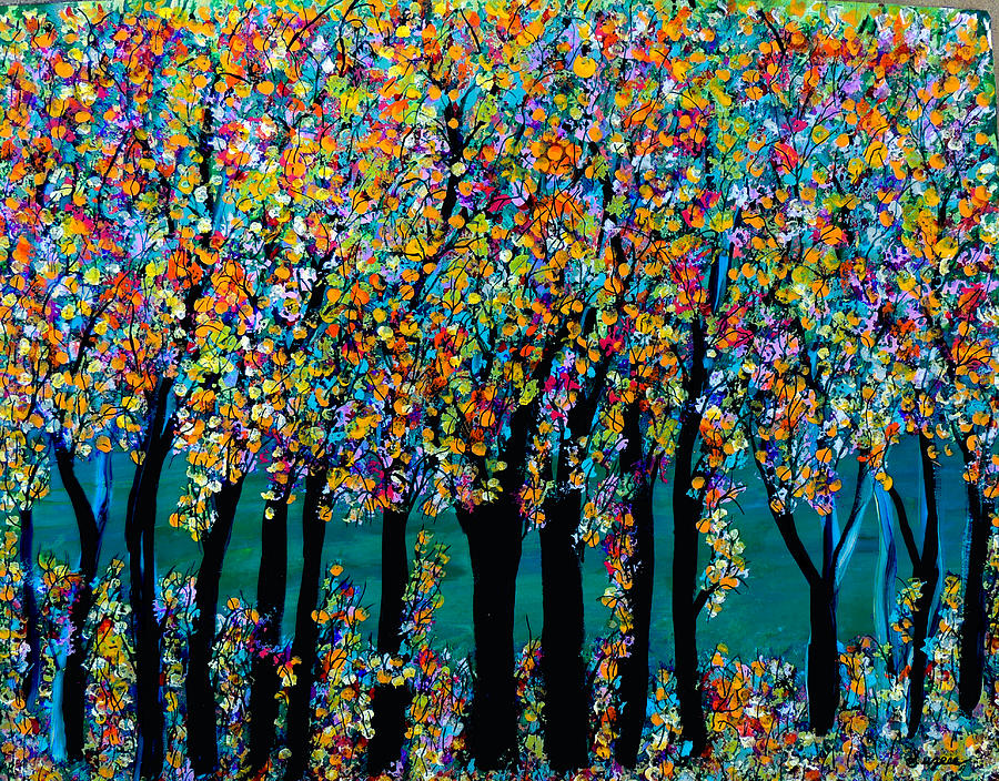 Blossoming Woodland Painting  - Blossoming Woodland Fine Art Print