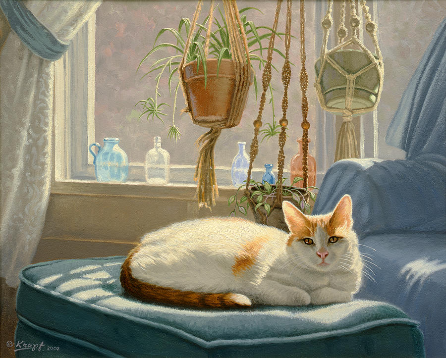 Cat Painting - Blossoms Place by Paul Krapf