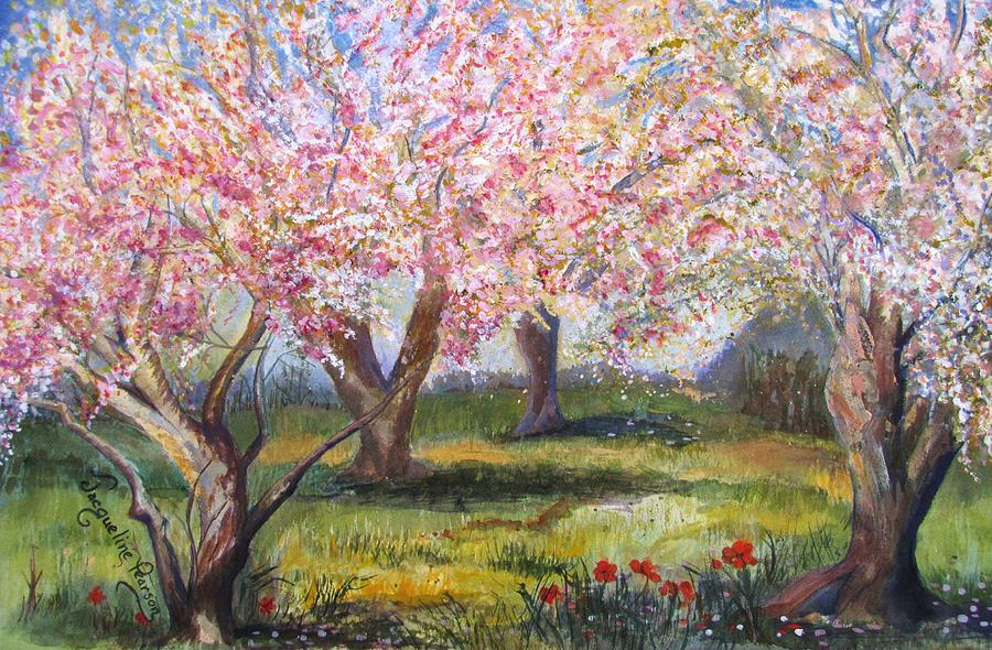 Cherry Blossoms Painting - Blossomtime by Jacqueline Pearson