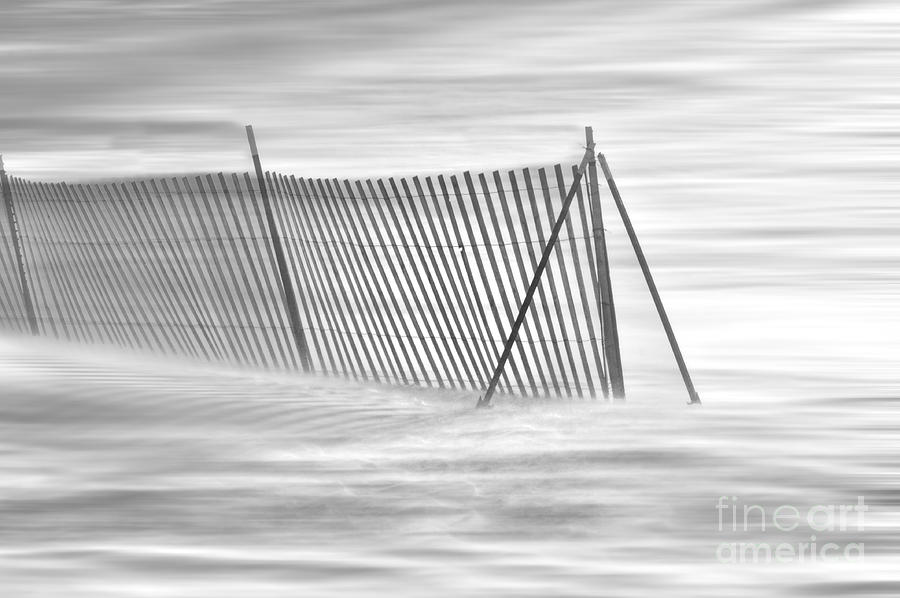 Blowing Snow At Snow Fence  Photograph
