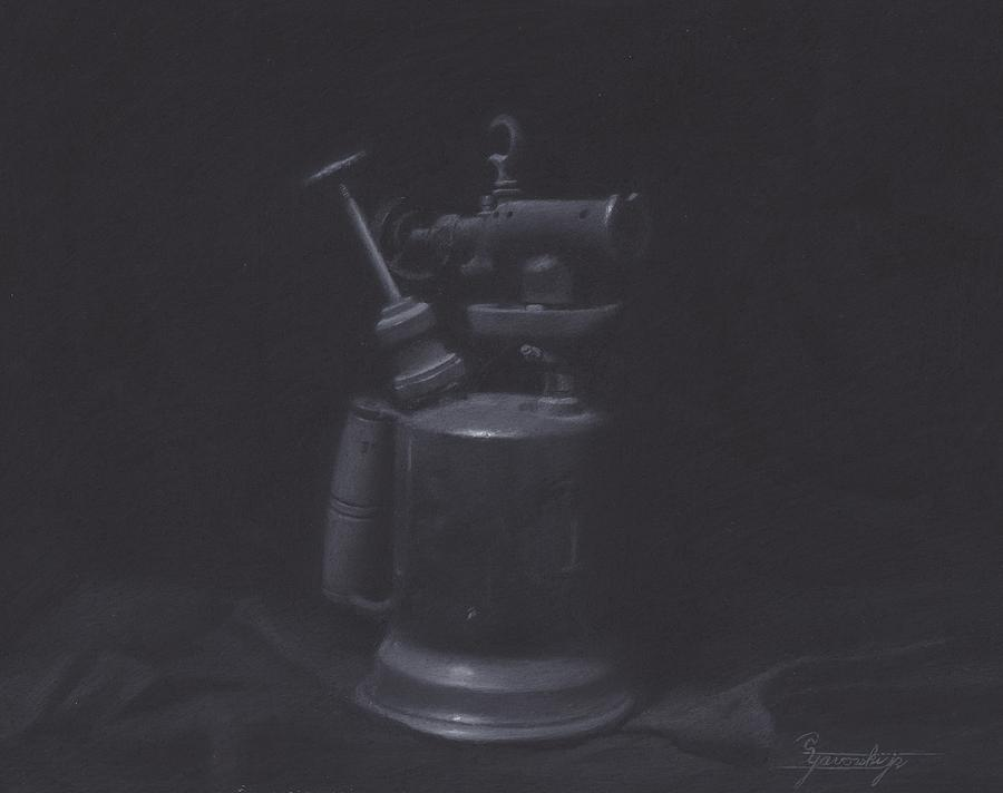 Antique Drawing - Blowtorch Study by Stephen Yavorski