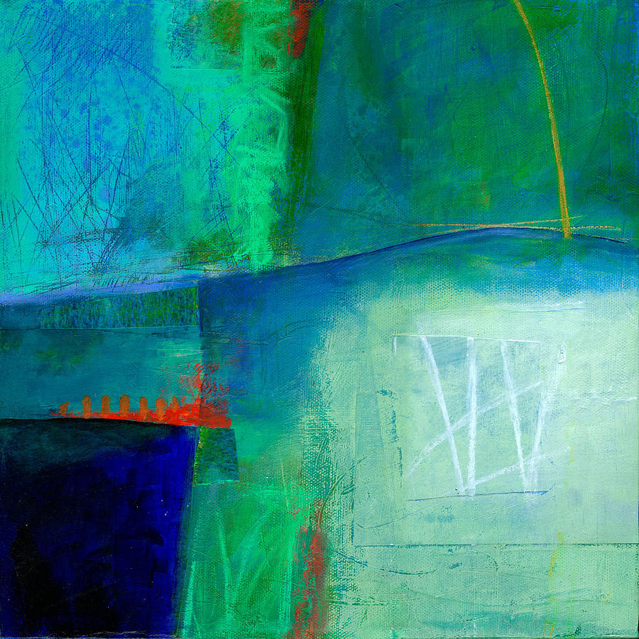 Blue Painting - Blue #1 by Jane Davies