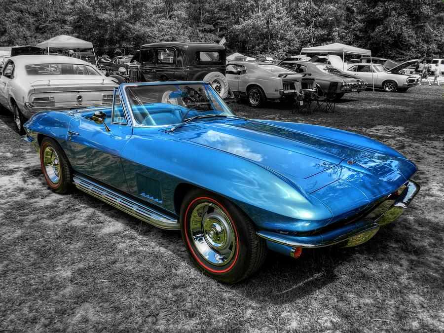 Blue 67 Corvette Stingray 001 Photograph By Lance Vaughn