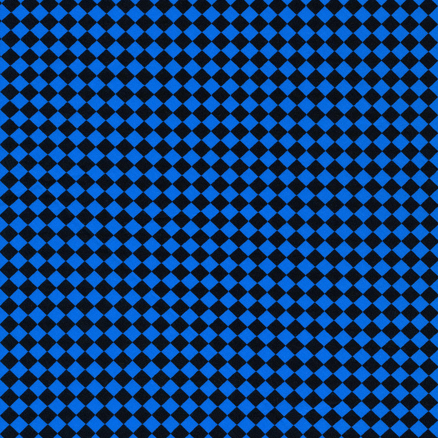Blue And Black Checkered Pattern Cloth Background