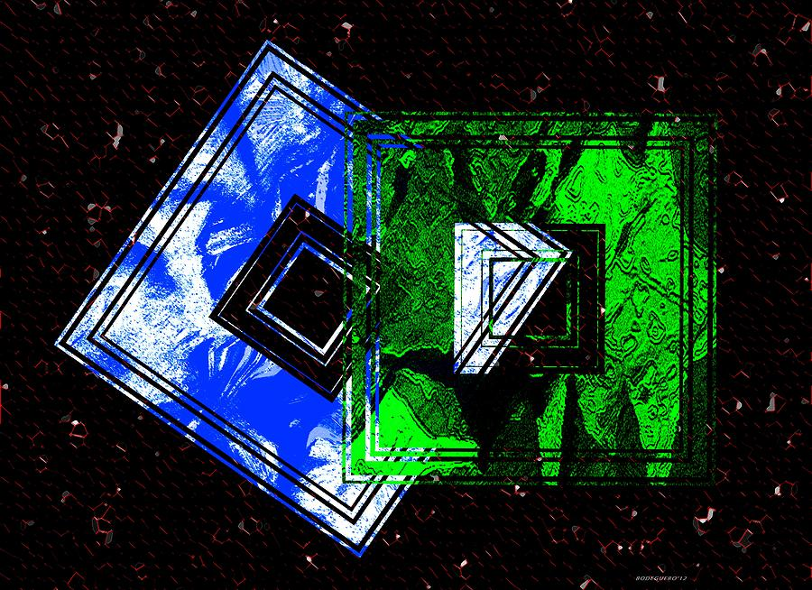 Blue Digital Art - Blue And Green Combination by Mario Perez