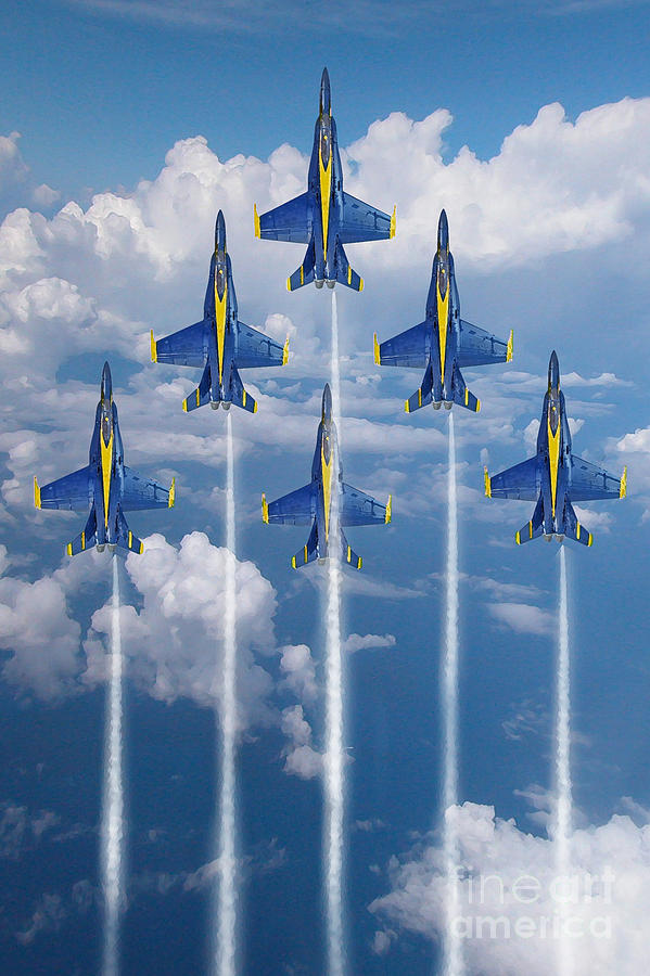 Blue Angels Digital Art