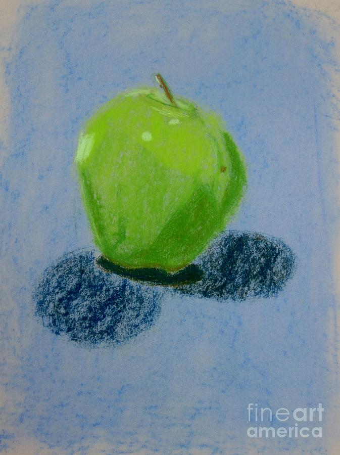 Blue Apple Pastel  - Blue Apple Fine Art Print
