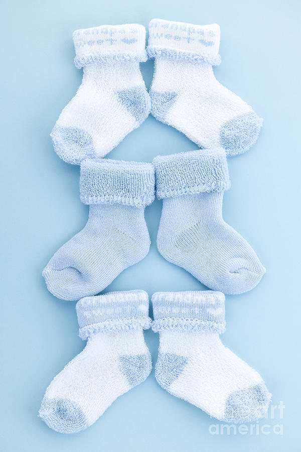Blue Baby Socks Photograph