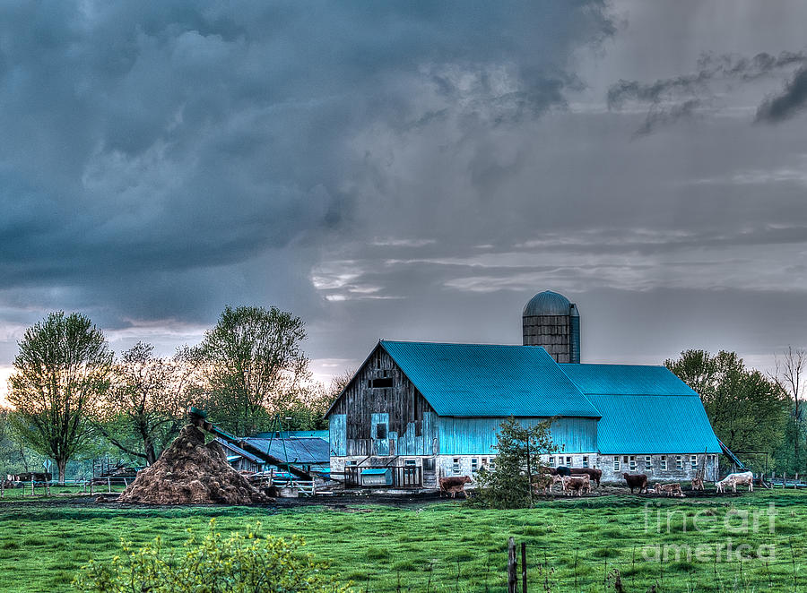 Blue Barn Photograph  - Blue Barn Fine Art Print