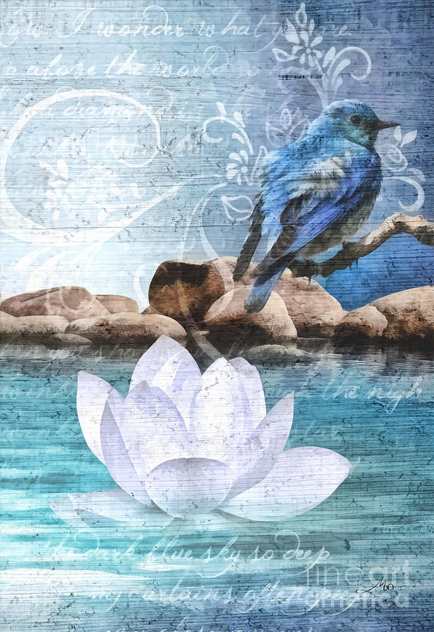 Blue Bird Painting  - Blue Bird Fine Art Print