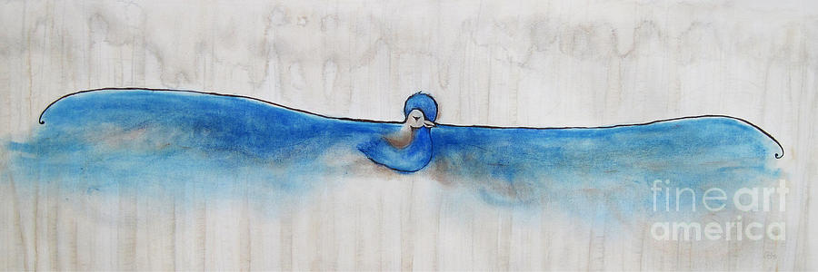 Blue Bird Of Happiness Painting