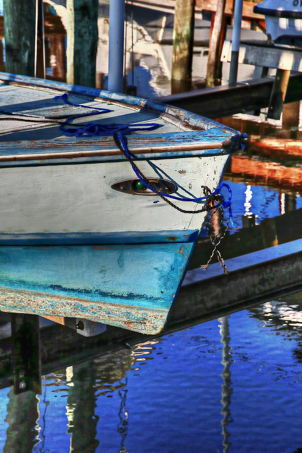 Blue Boat Bow Photograph