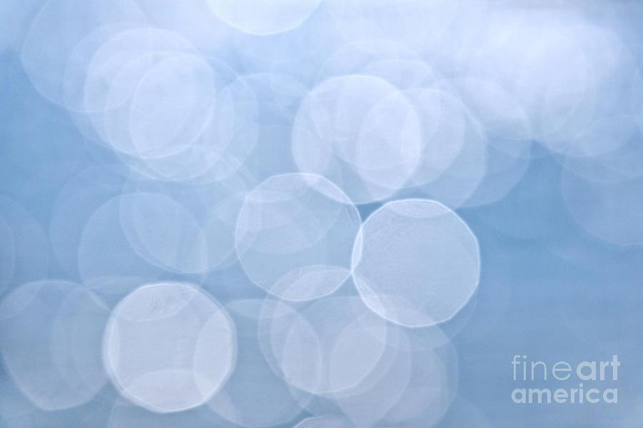 Blue Bokeh Background Photograph
