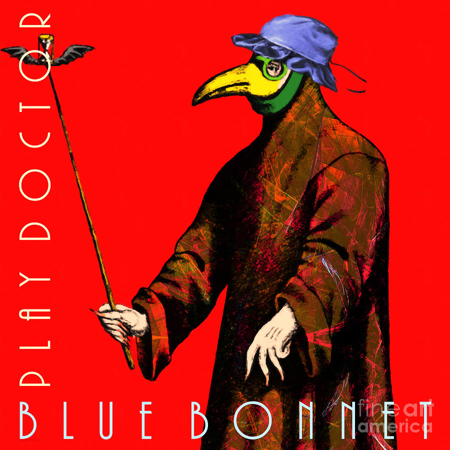 Blue Bonnet Play Doctor 20140306 Square With Text Photograph
