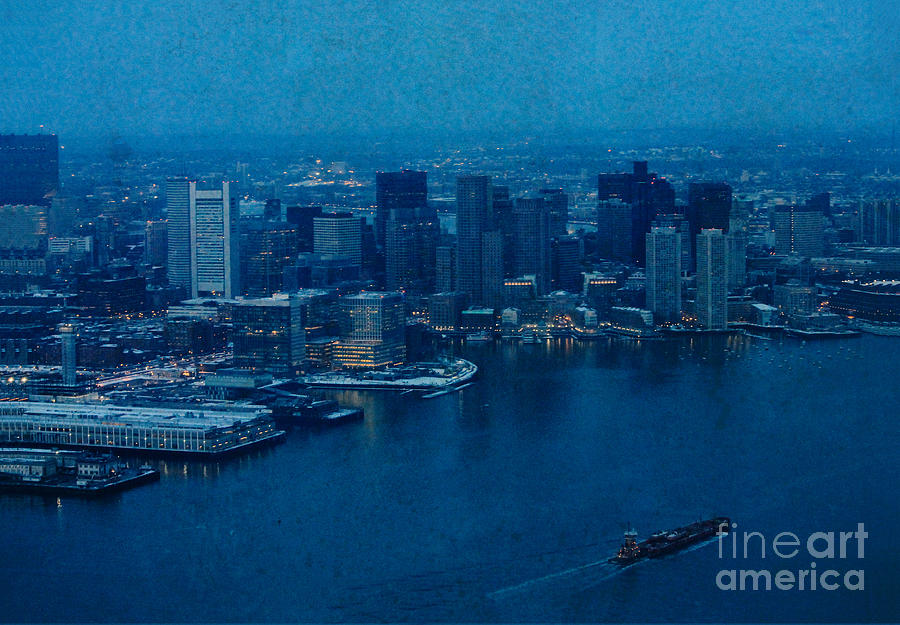 New England Photograph - Blue Boston by Claudia M Photography
