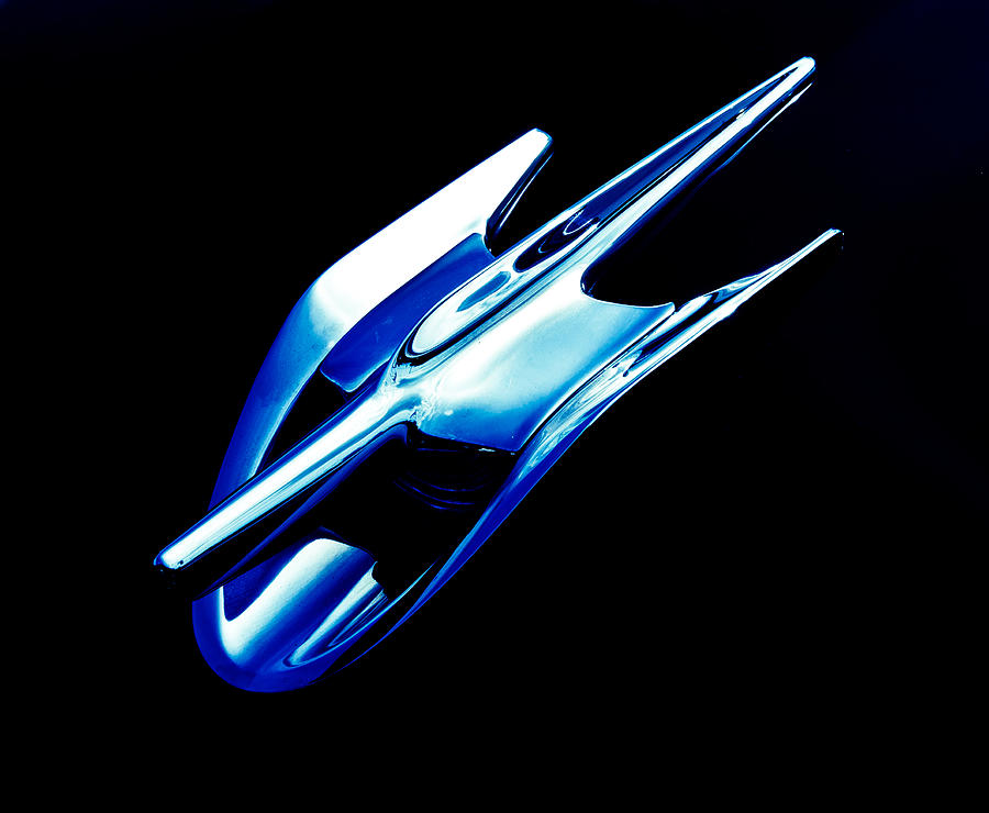 Blue Chrome Jet Photograph  - Blue Chrome Jet Fine Art Print