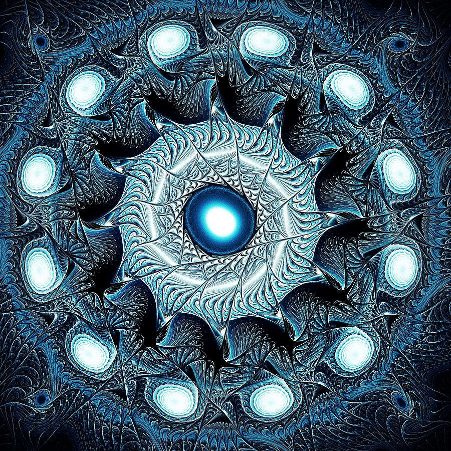 Blue Circle Digital Art  - Blue Circle Fine Art Print