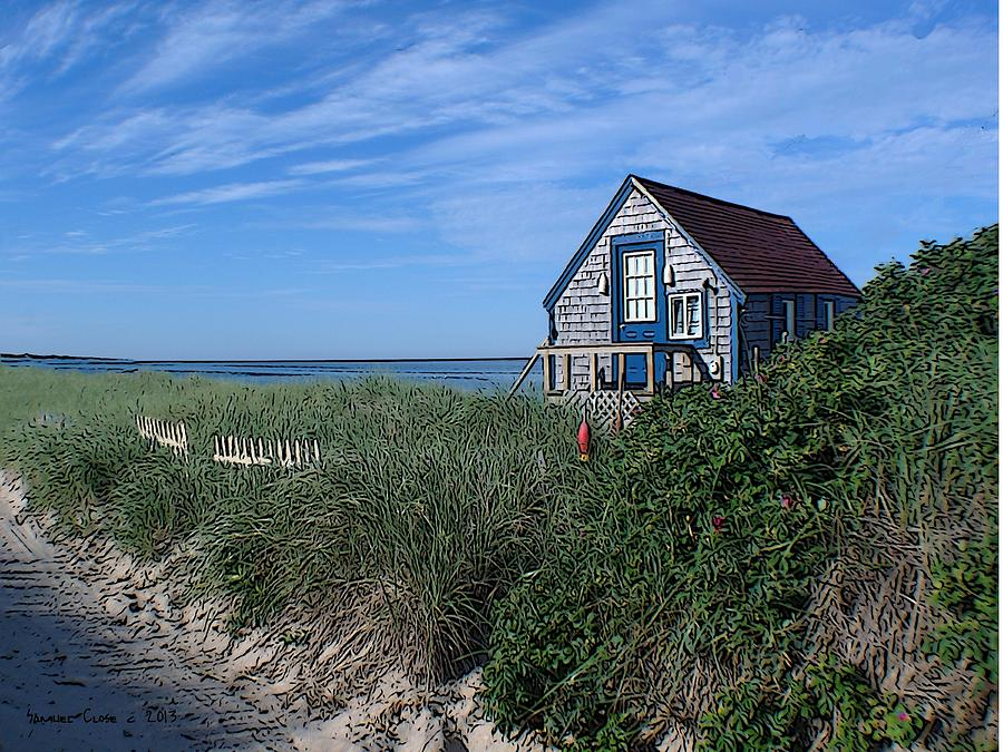 Blue Cottage Cape Cod Painting
