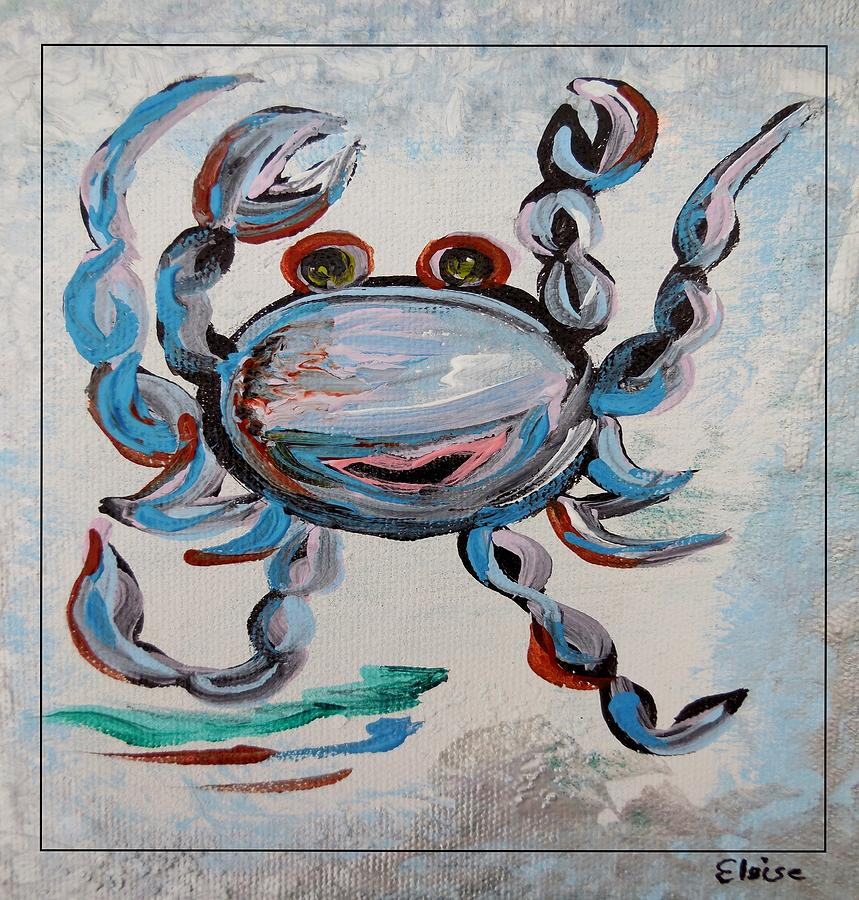 Blue Crab Dancing Painting  - Blue Crab Dancing Fine Art Print