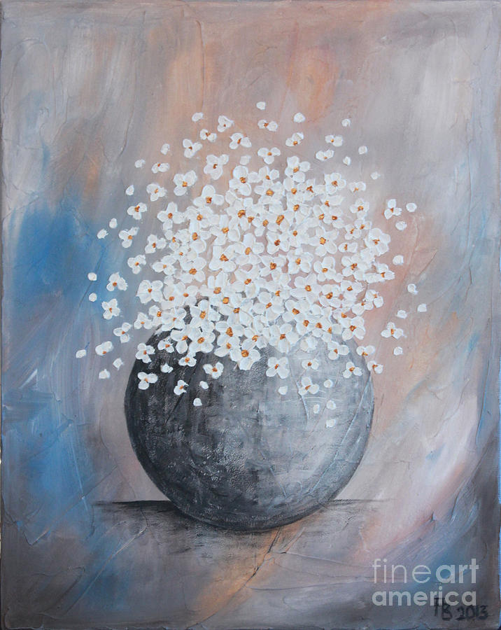 Blue Daisies Painting