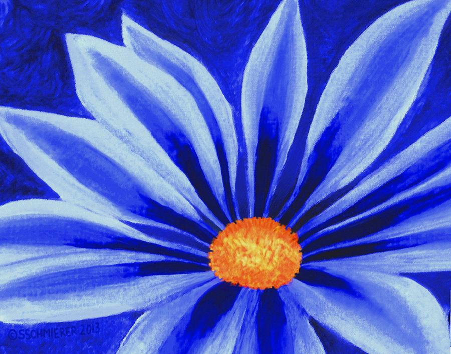 Blue Daisy By SophiaArt Gallery