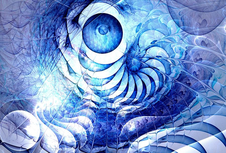 Blue Dream Digital Art  - Blue Dream Fine Art Print