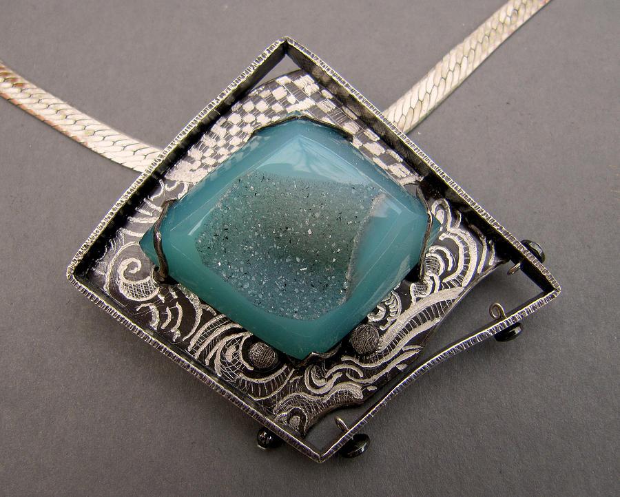Blue Duzy Graffitie Necklace Jewelry