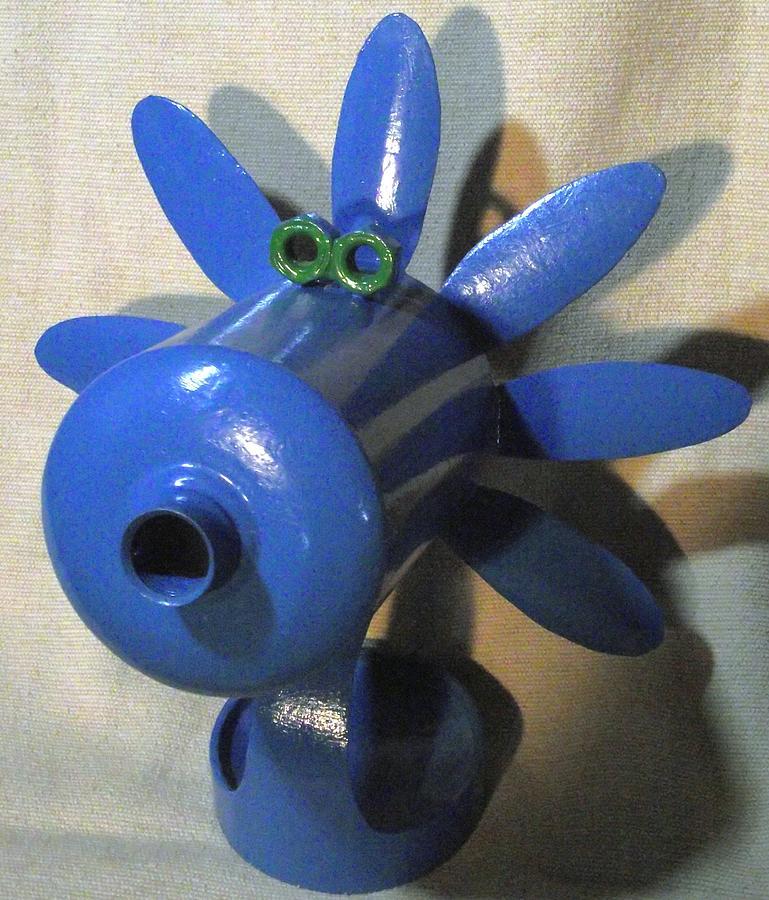 Blue Flower Sculpture