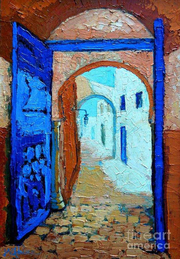 Blue Gate Painting  - Blue Gate Fine Art Print