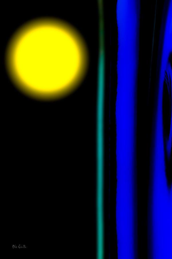 Macro Photograph - Blue Glass by Bob Orsillo
