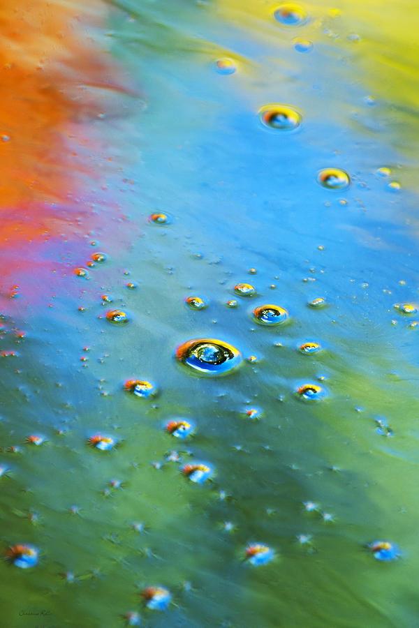Blue Green Abstract Art Photograph