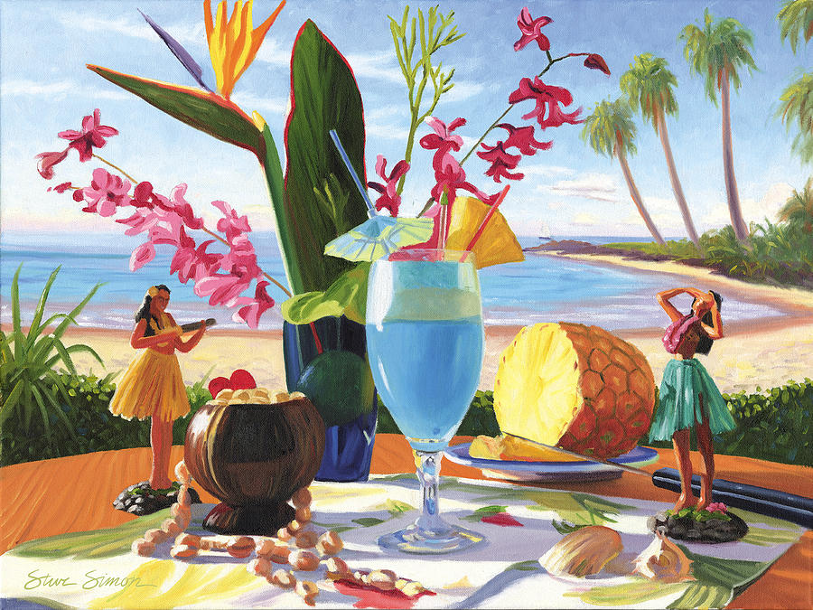 Blue Hawaiian Painting - Blue Hawaiian by Steve Simon