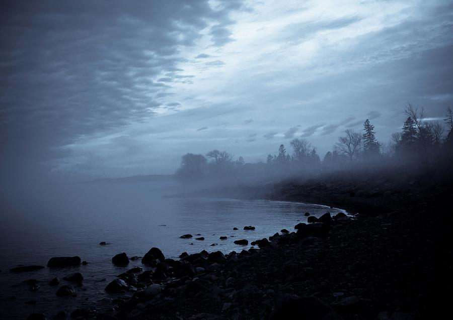 Blue Hour Mist Photograph