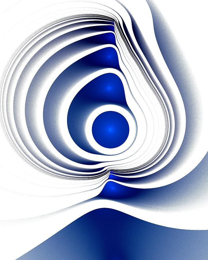 Blue Imprint Digital Art  - Blue Imprint Fine Art Print