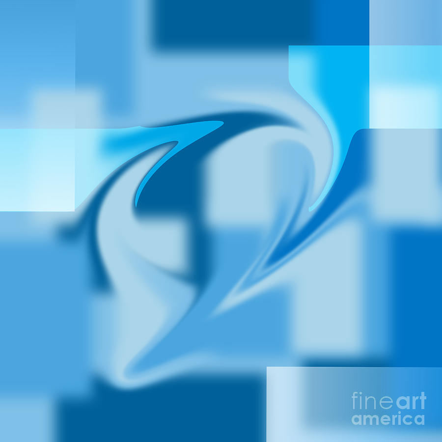 Blue In A Blender Digital Art