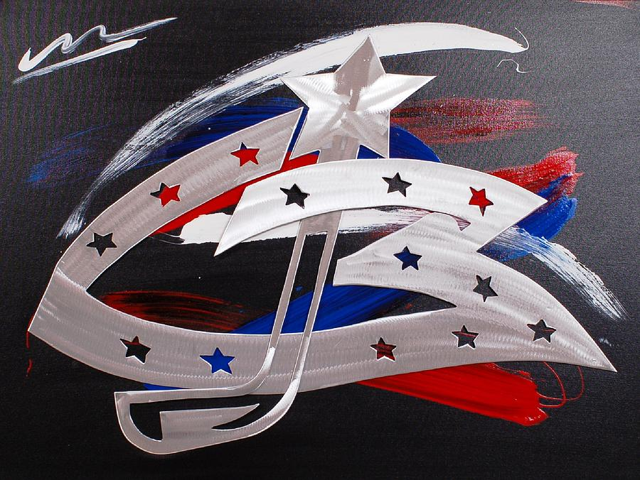Blue Jackets Painting