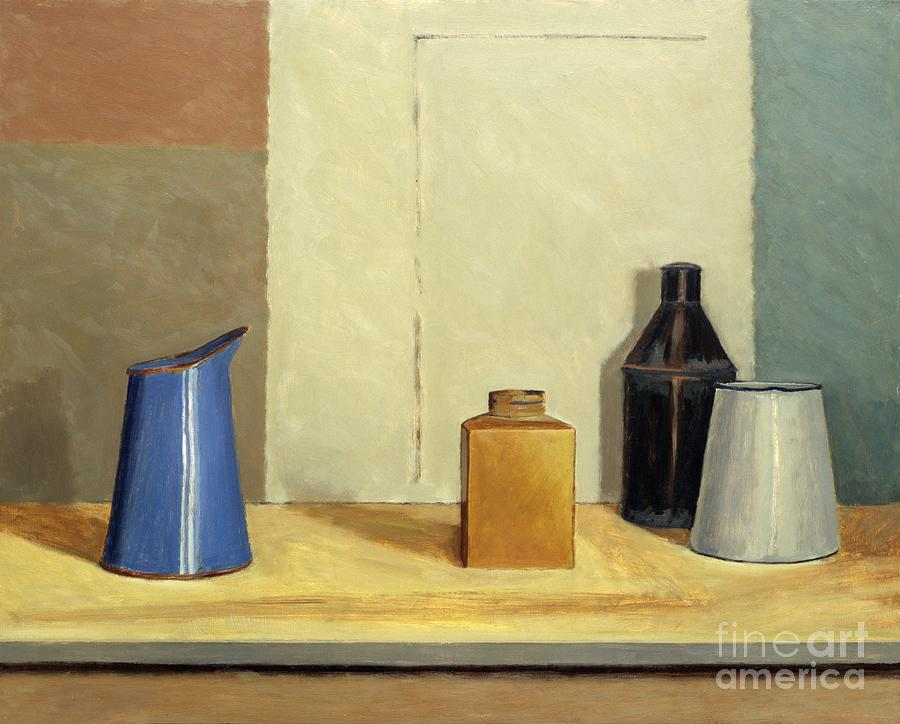 Enamel Painting - Blue Jug Alone by William Packer