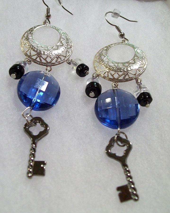 Blue Jewelry - Blue Key Chandelier by Kristin Lewis